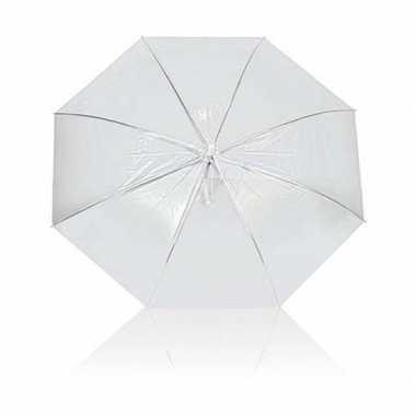 Doorzichtige paraplu transparant